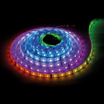BANDA LED DIGITALA, SMD5050, 5V DC, IC WS2812B, 7,2W/m, 30 PIXELI/M, IP67, RGB